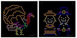 Thanksgiving Lite Brite