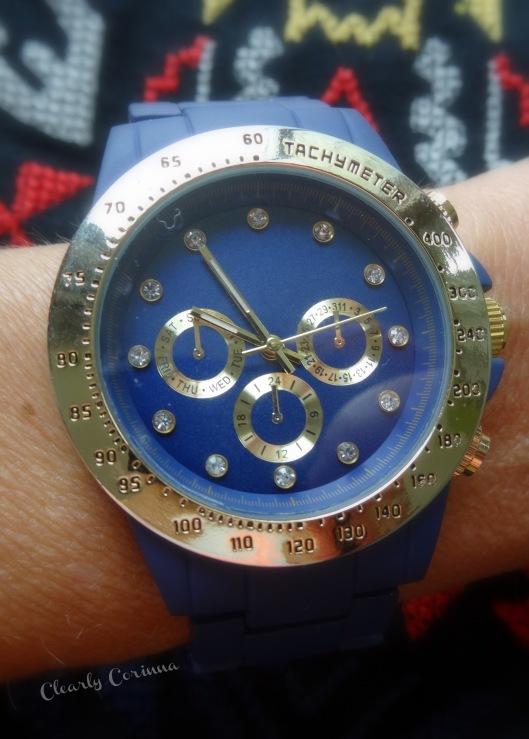 Navy Bracelet Boyfriend Watch Target