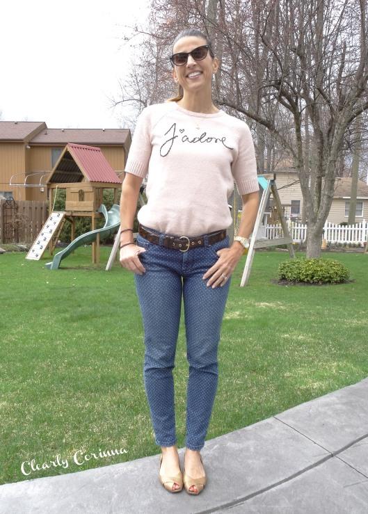 Polka dot Denim Jeans