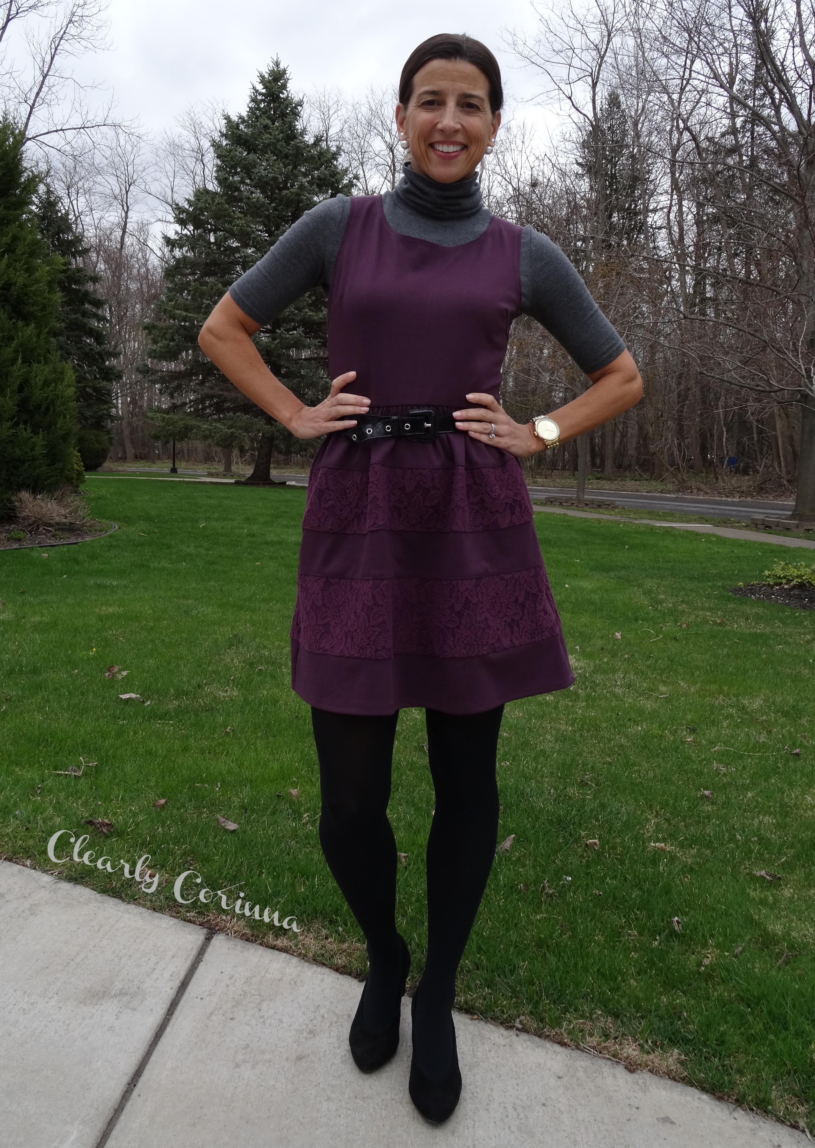 0daf19af05d69 Heather Grey Short Sleeved Turtle neck Target Plum Dress ...